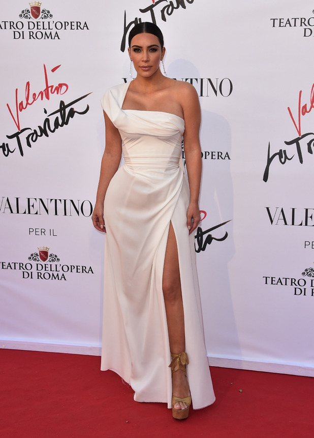 Kim Kardashian West attends the premiere of La Traviata (opera) in Rome, Italy, 22nd May 2016