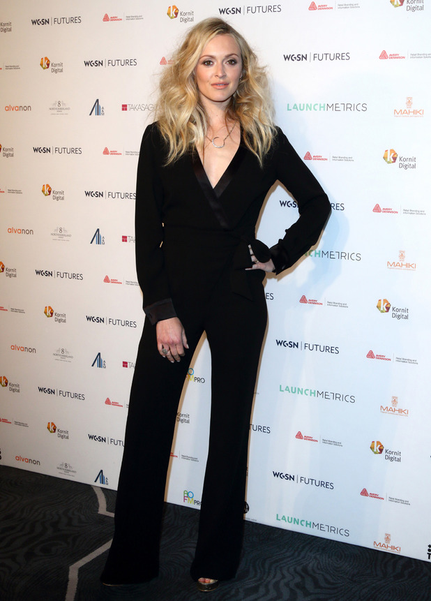 Fearne cotton wears black jumpsuit to the WGSN Futures Awards at No 8 Northumberland Avenue, London, 26th May 2016