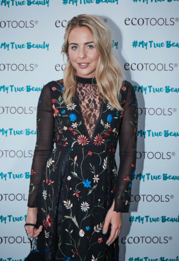 TOWIE's Lydia Bright wears Miss Selfridge dress to the ecoTOOLS Women's Empowerment event in London, 26th May 2016