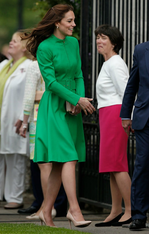 Catherine, Duchess of Cambridge arrives at Chelsea Flower Show press day at Royal Hospital Chelsea on May 23, 2016 in London, England. The show, which has run annually since 1913 in the grounds of the Royal Hospital Chelsea, is open to the public from 24-28 May. (Photo by Adrian Dennis - WP Pool/Getty Images)