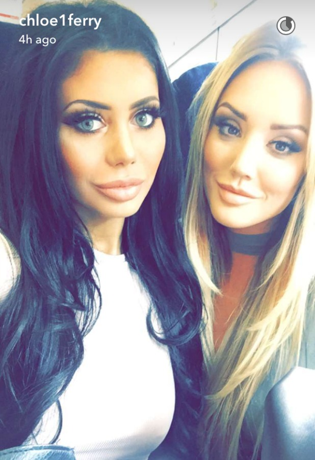Geordie Shore's Chloe Ferry shares Snapchat with Charlotte Crosby 24 May 2016