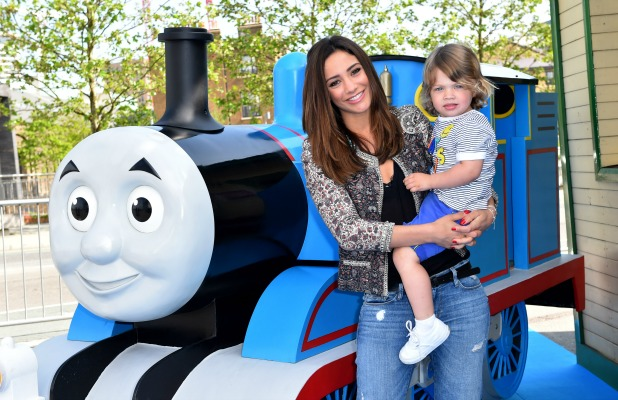 Frankie Bridge takes son Parker to The Great Race premiere Thomas & Friends 22 May 2016