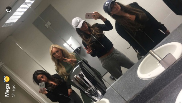 Courtney Green, Chloe Meadows and Megan McKenna have Girl Band Jumpers 24 May 2016