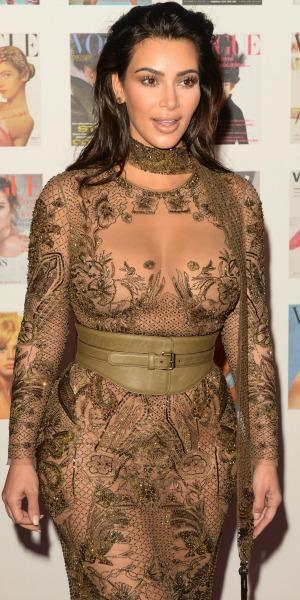 British Vogue 100th anniversary gala dinner at Kensington Gardens Kim Kardashian 23 May 2016