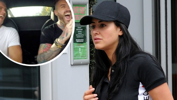 Geordie Shore's Marnie Simpson in London Inset: Gaz and Aaron on the show