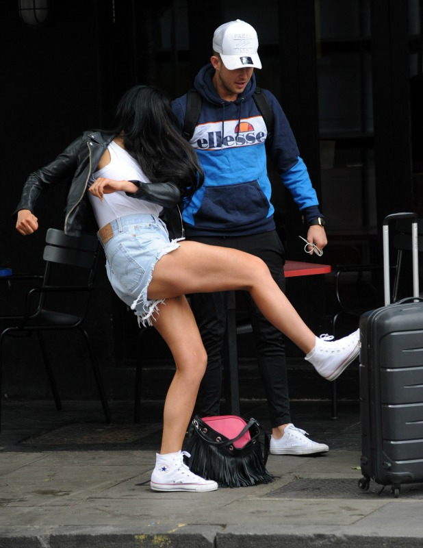 The cast of Geordie Shore head out this morning after celebrating their 5th Anniversary and fool around in the streets of Camden. Chloe Ferry 25 May 2016