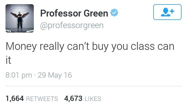 Professor Green's tweet, 29/5/16