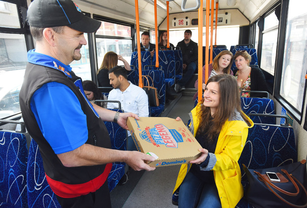 Domino's will now deliver pizza to you at bus stops