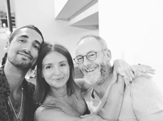 Millie Mackintosh, Hugo Taylor and Liam Cunningham in Monaco, 30/5/16