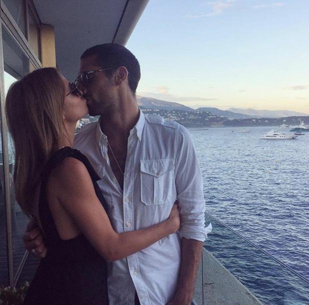 Millie Mackintosh kissing Hugo Taylor on Instagram, 30/5/16