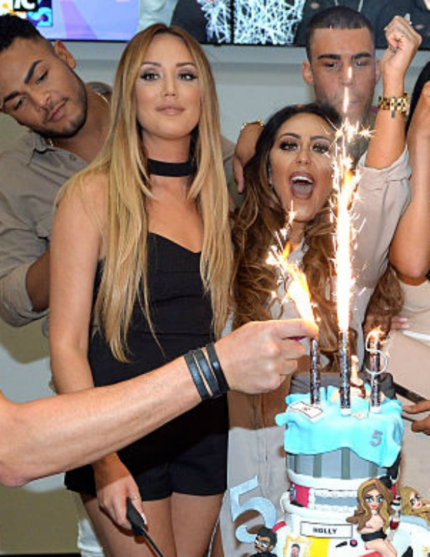 Charlotte Crosby and Sophie Kasaei of Geordie Shore celebrate their fifth birthday at MTV London on May 24, 2016 in London, England. (Photo by Anthony Harvey/Getty Images)