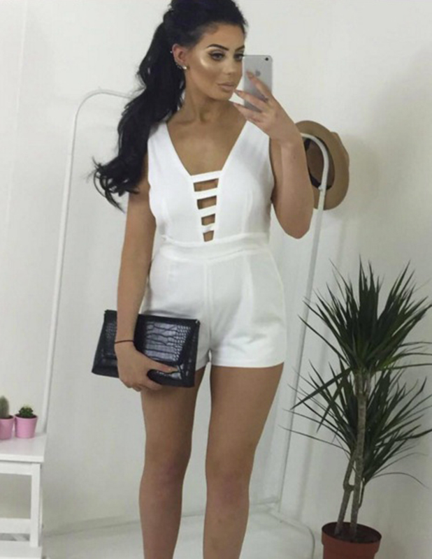 Chloe Ferry in a Missy Empire playsuit, June 2016