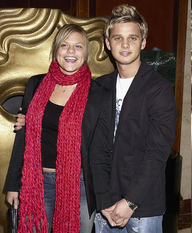 Big Brother star Jade Goody with boyfriend Jeff Braizer arrive at The BAFTA Childrens Awards 2002 sponsored by Lego on November 24th, 2002 at the Hilton Hotel in London.