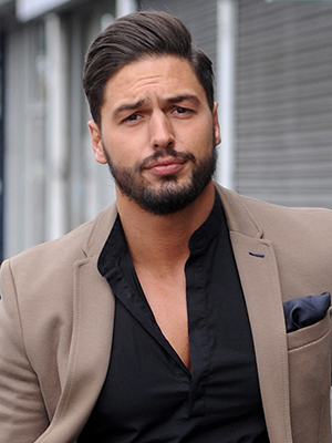 TOWIES Mario Falcone arrives for filming in Essex March 2015