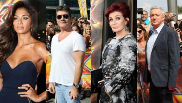 X Factor 2016 judging lineup: Nicole Scherzinger. Simon Cowell. Sharon Osbourne. Louis Walsh