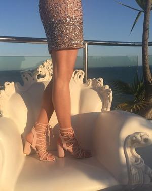 Ibiza - Elsa modelling Public Desire heels.