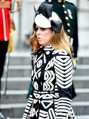 Princess Beatrice at National Service of Thanksgiving to mark Queen Elizabeth II's 90th Birthday, St Paul's Cathedral, London, UK - 10 Jun 2016