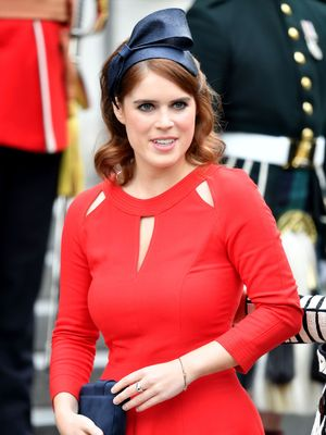 Princess Eugenie at National Service of Thanksgiving to mark Queen Elizabeth II's 90th Birthday, St Paul's Cathedral, London, UK - 10 Jun 2016