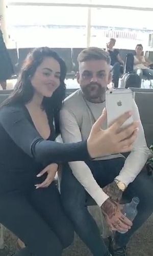 Marnie Simpson and Aaron Chalmers, Snapchat 6 June