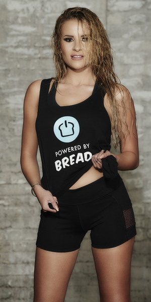 Georgia Kousoulou models Powered by Bread gymwear 7 June
