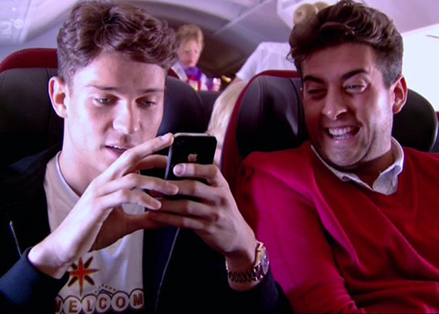 Arg shows Joey Essex a photograph on 'The Only Way Is Vegas', Shown on ITV2