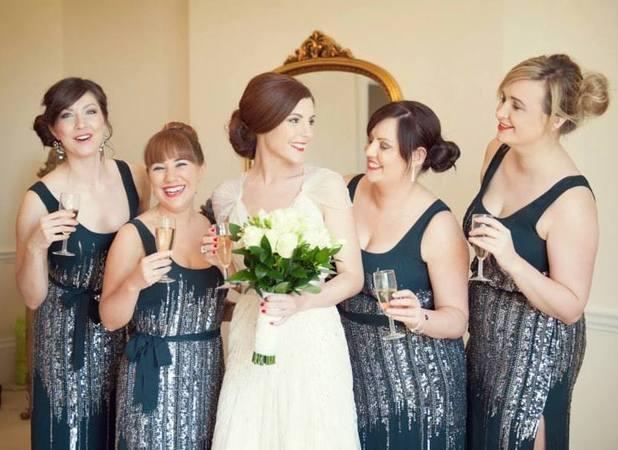 Caroline and her bridesmaids