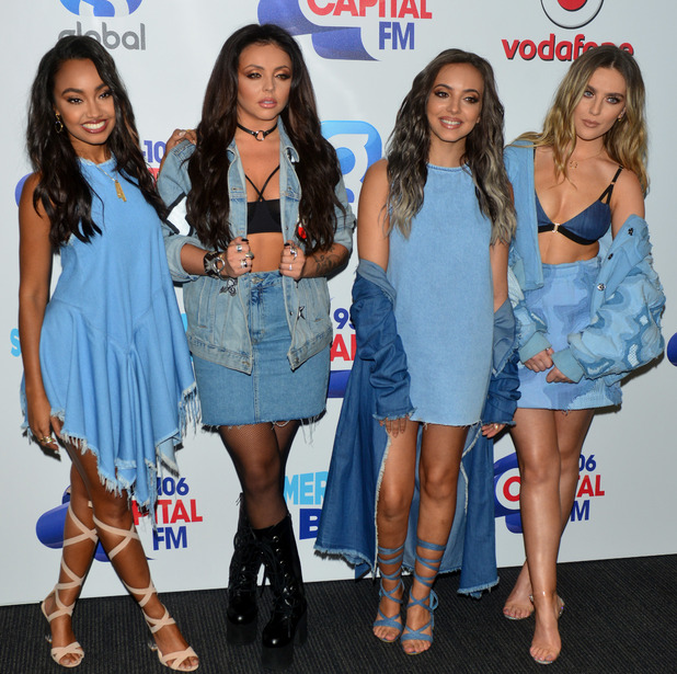 Little Mix - Perrie Edwards, Jade Thirlwall, Jesy Nelson, Leigh-Anne Pinnock - at Capital's Summertime Ball,11/6/16