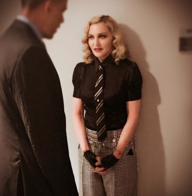 Madonna meets President Obama on Jimmy Fallon show, 8 June 2016