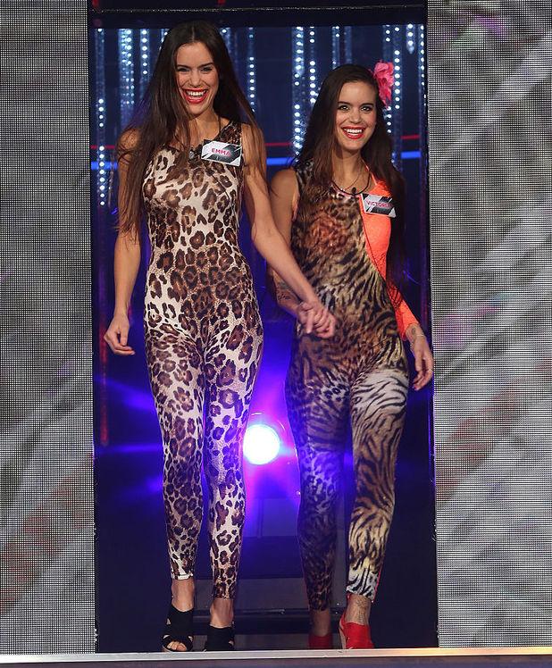 Victoria Jensen and Emma Jensen enter the Big Brother house 7 June