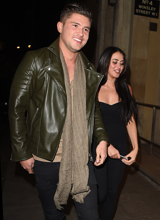 Celebrities arriving at In The Style Party in London at Libertine Nightclub. Jordan Davies and Marnie Simpson