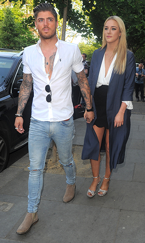 Amy Childs Summer collection showcase at Beach Blanket Babylon, Notting Hill, London Sam Reece and Taylor Ward