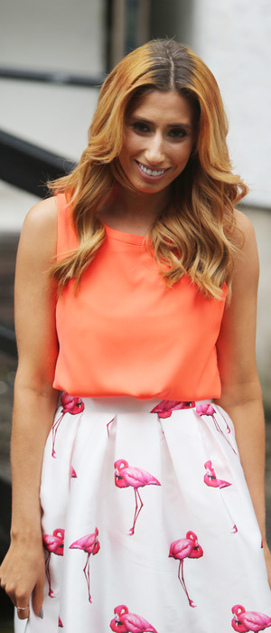 Stacey Solomon pictured outside ITV Studios after appearing on Loose Women, 13th June 2016