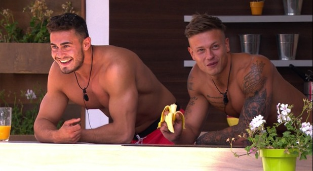 Alex Bowen and James Khan, Love Island 15 June