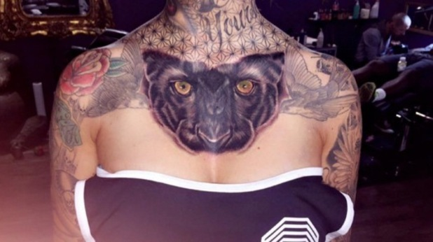 Jem Lucy gets tattoo of black panther on chest 13 June
