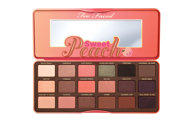 Too Faced Sweet Peach eyeshadow Palette £39, 14th June 2016
