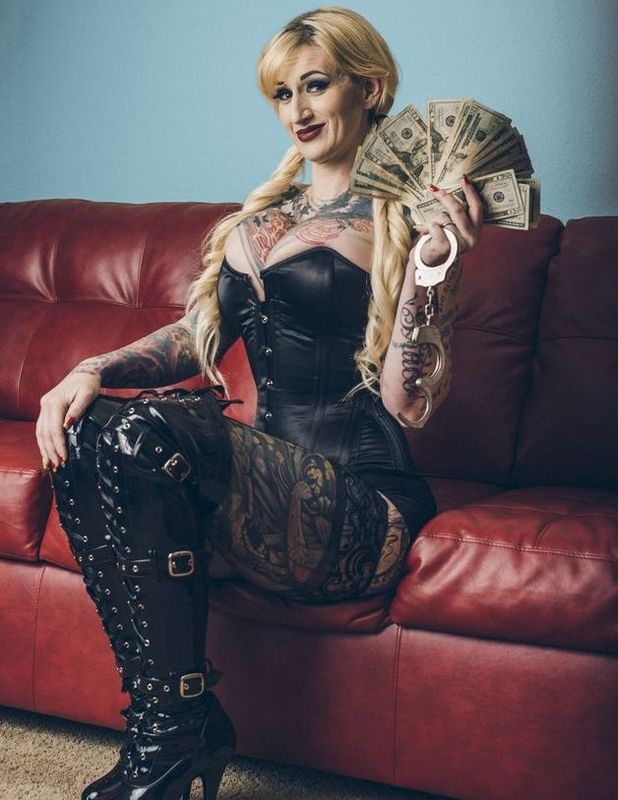 Mistress Harley earns £3,000 a day and is sent cash by her loyal slaves