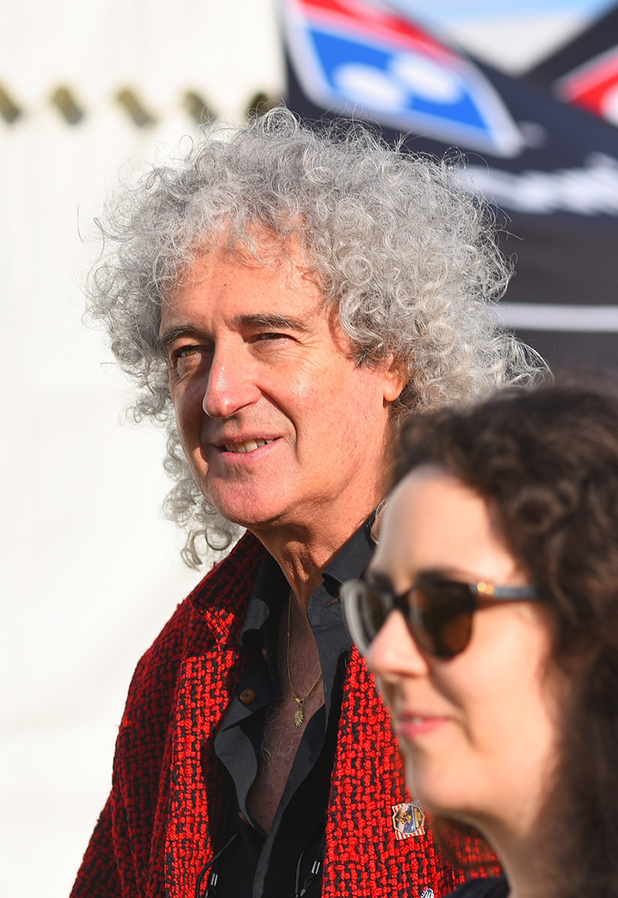 Queen's Brian May backstage at Isle of Wight Festival 2016 12 June 2016