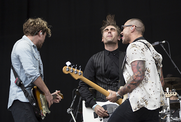 Busted at the Isle of Wight Festival 2016 Charlie Simpson, Matt Willis and James Bourne