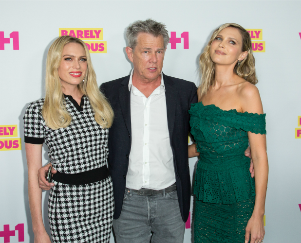 Actress Erin Foster,composer David Foster and actress Sara Foster Barely Famous series 2 premiere 2016