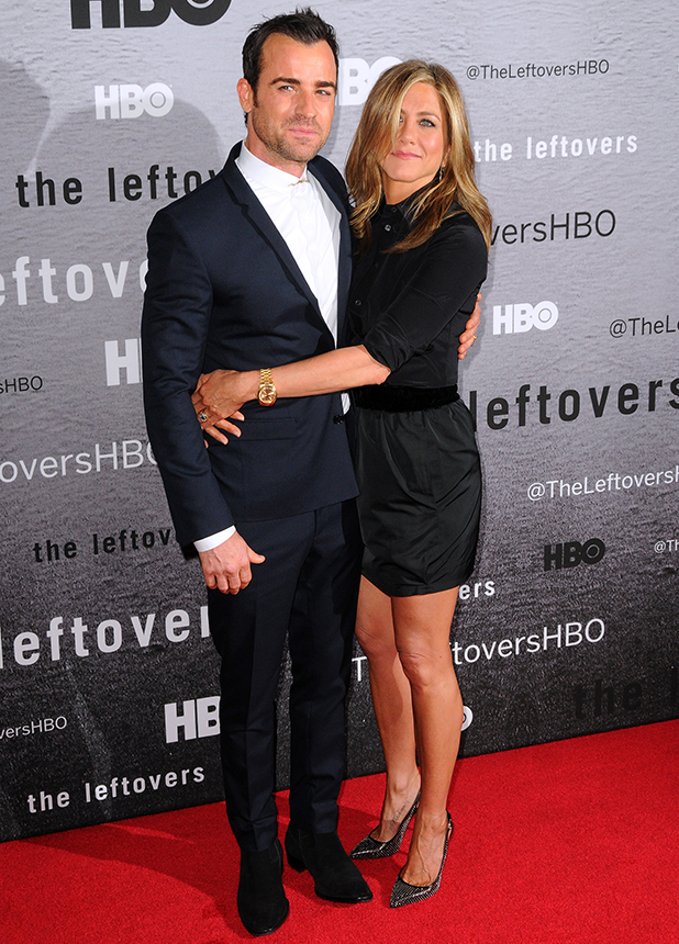 "New York premiere of ""The Leftovers"" at NYU Skirball Center - Red Carpet Arrivals Jennifer Aniston and Justin Theroux"