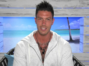 Adam Maxted on ITV reality show 'Love Island'. Broadcast on ITV2 HD.