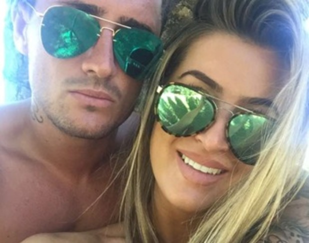 Stephen Bear and Lillie Lexie Gregg on holiday in Portugal 21 June