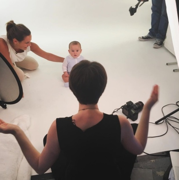 Sam Faiers takes baby Paul to his first ever casting, London, 23rd June 2016