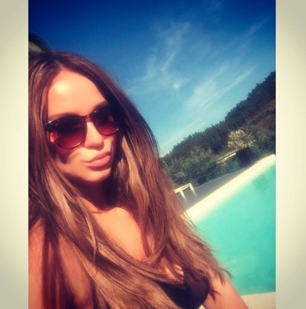 Geordie Shore's Vicky Pattison shows off her new hair extensions and lighter hair colour on Instagram, 20th June 2016