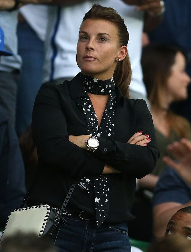 SAINT-ETIENNE, FRANCE - JUNE 20: Coleen Rooney looks on during the UEFA EURO 2016 Group B match between Slovakia and England at Stade Geoffroy-Guichard on June 20, 2016 in Saint-Etienne, France.