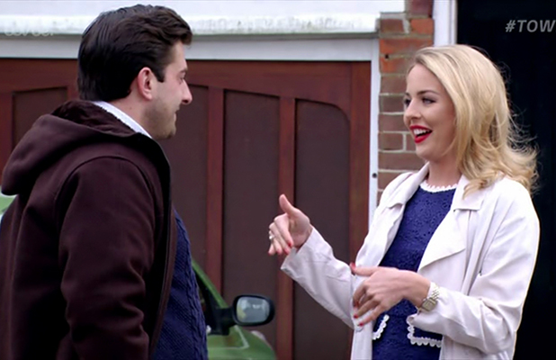 James Argent and Lydia Bright house hunt on 'The Only Way Is Essex'. Broadcast on ITVBe