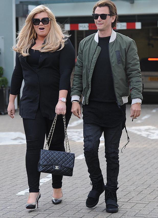 Jonathan Cheban and Gemma Collins seen at Harrods February 2016