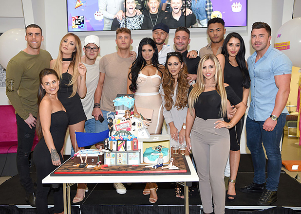 The cast of Geordie Shore arrive for the 5th birthday Celebrations of 'Geordie Shore' at MTV London on May 24, 2016 in London, England. (Photo by Karwai Tang/WireImage)