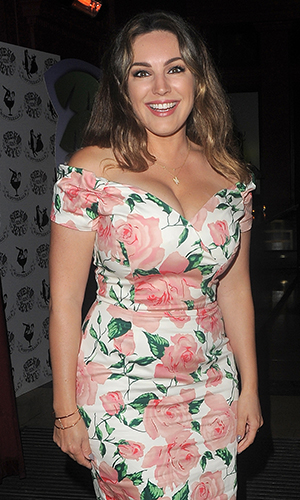 Kelly Brook and boyfriend arriving at Steam & Rye Goes Tropical - party. London. UK