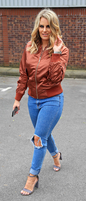 The Only Way Is Essex's Danielle Armstrong pictured out and about in Manchester, 28th June 2016